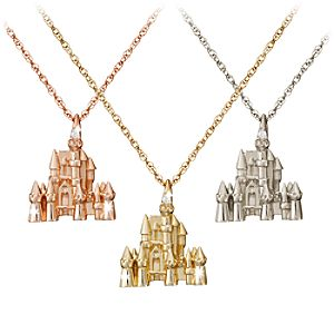 Disney Castle Necklace – 18 Karat Gold and Diamond