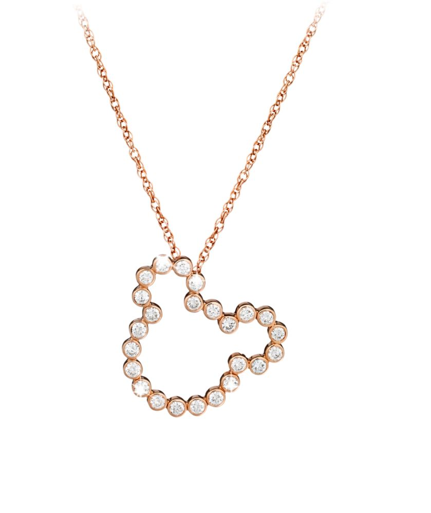 Diamond Mickey Mouse Silhouette Necklace – 18K Gold