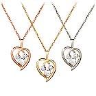 Diamond Heart Mickey Mouse Necklace- 14K