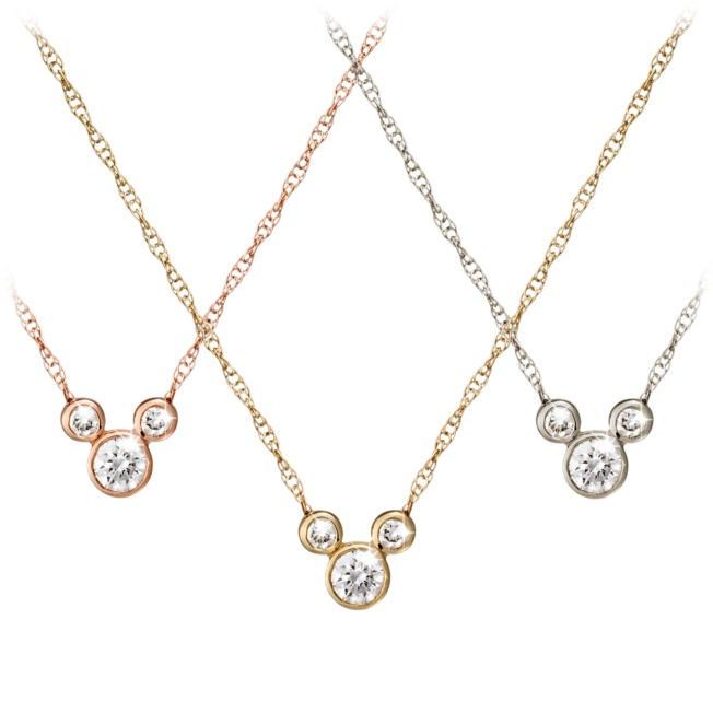 Diamond Icon Mickey Mouse Necklace – 14K – Small