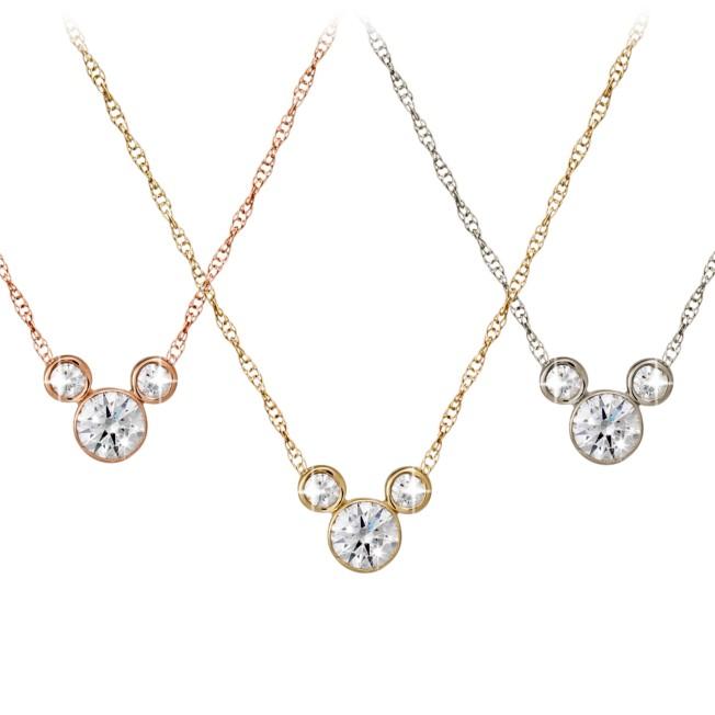 Diamond Mickey Mouse 14K Necklace – Medium