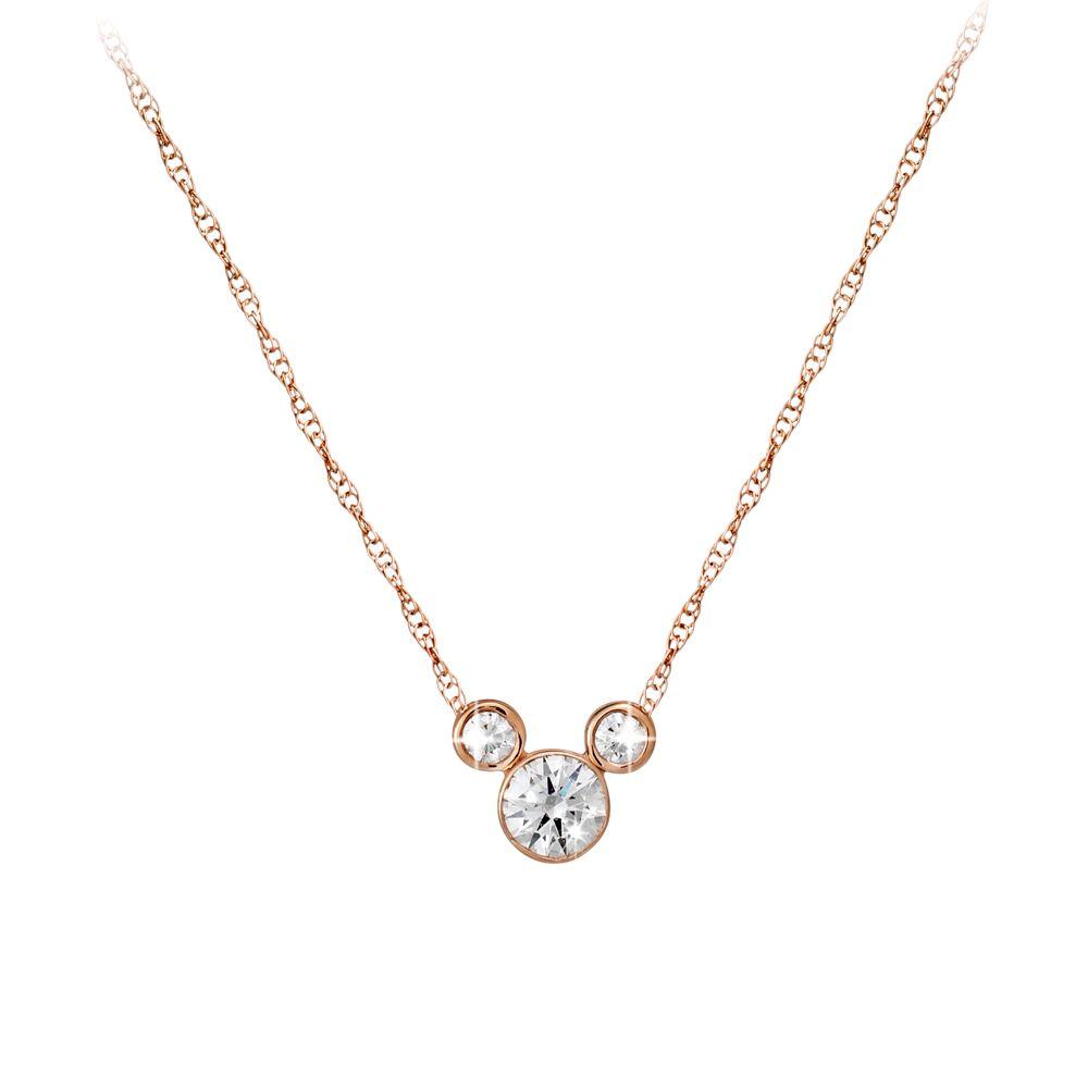 Diamond Mickey Mouse Necklace – Medium – 18K