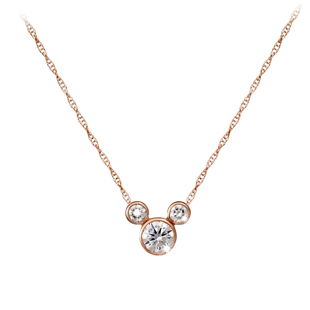 Mickey Mouse Diamond Icon Necklace – 18K – Large