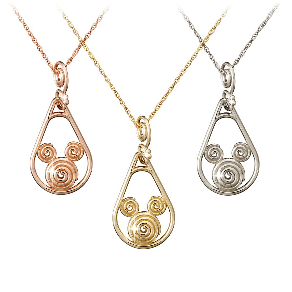 Mickey Mouse Gold Coiled Necklace  14K Official shopDisney