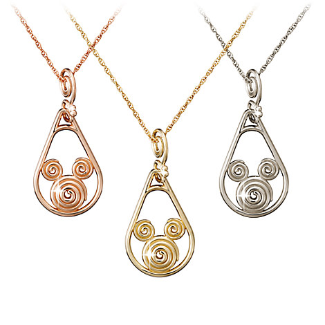 Mickey Mouse Gold Coiled Necklace - 18K