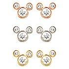 Diamond Mickey Mouse 14K Earrings - Small