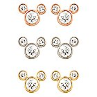 Diamond Mickey Mouse Earrings - Small - 18K