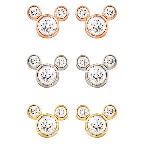 Diamond Mickey Mouse 14K Earrings - Medium