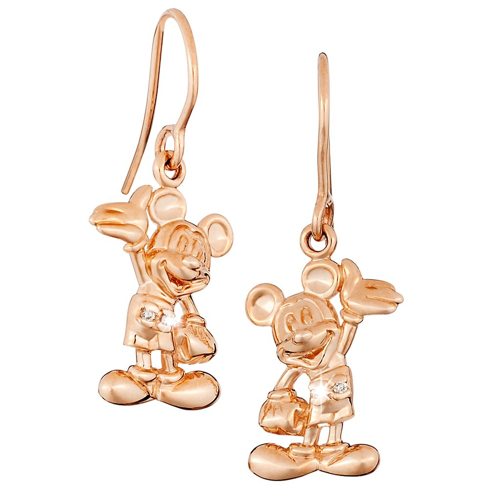 Mickey Mouse Earrings – Diamond and 14K