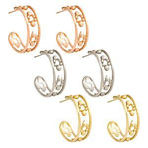 Mickey Mouse Hoop Earrings – 14K