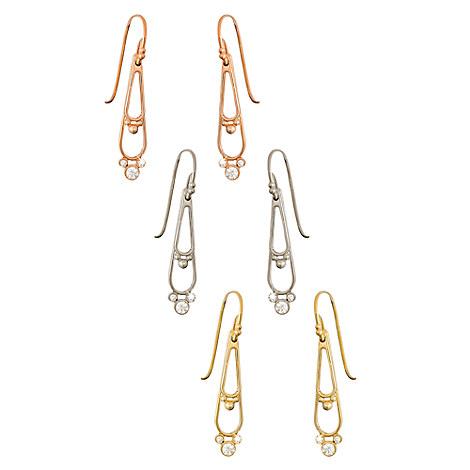 Diamond Mickey Mouse Double Drop Earrings - 18K