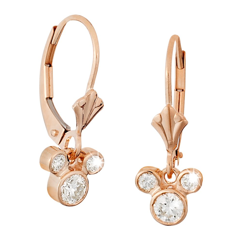 Mickey Mouse Fleur-de-Lis Earrings – Gold