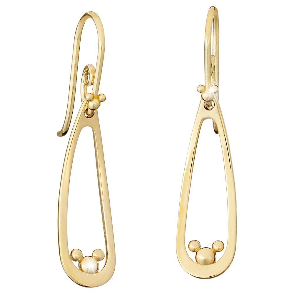 Mickey Mouse Drop Earrings – 14K
