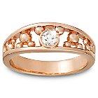 Diamond Mickey Mouse Ring for Men - 14K Rose Gold