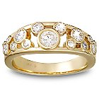 Diamond Mickey Mouse Icon Ring for Women - 14K Yellow Gold