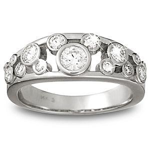 Diamond Mickey Mouse Icon Ring for Women - 14K White Gold