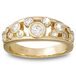 Diamond Mickey Mouse Ring for Women - 18K Yellow Gold