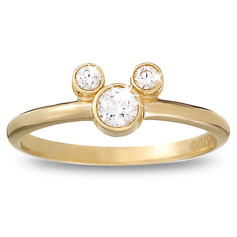Diamond Mickey Mouse Ring - 18K Yellow Gold