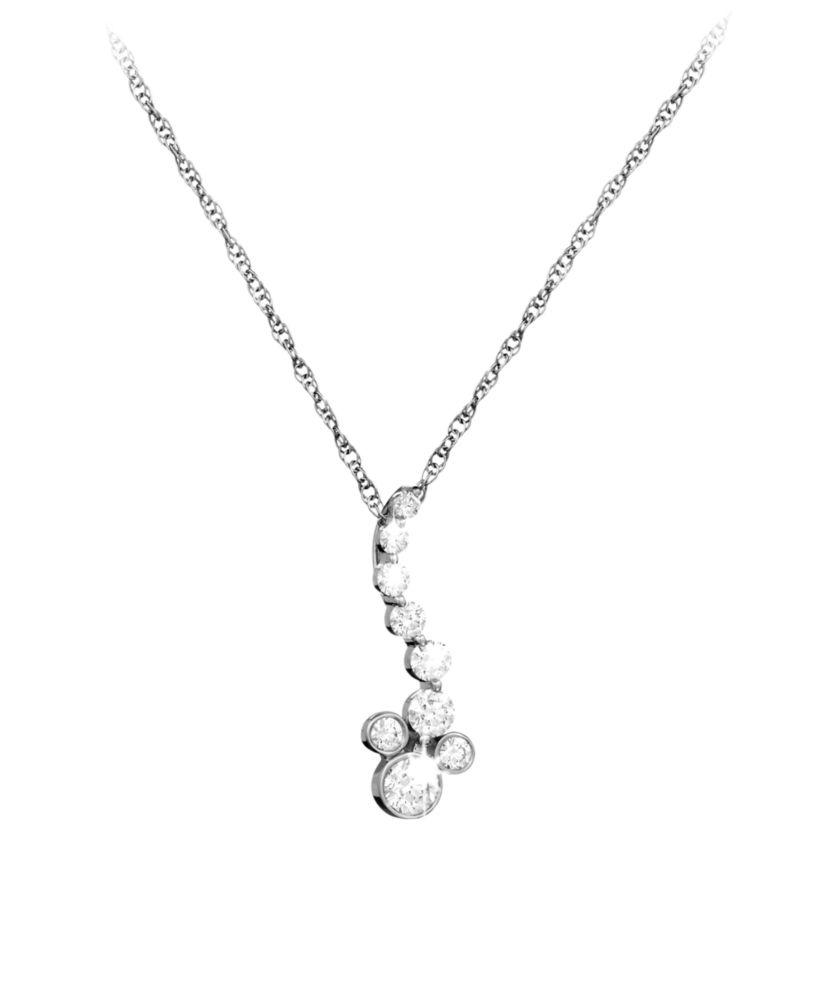 Mickey Mouse Diamond Necklace – Platinum