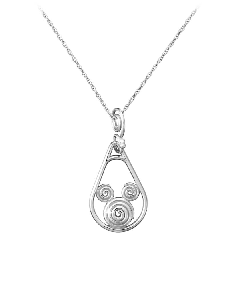 Mickey Mouse Necklace  Mickey Swirl Official shopDisney