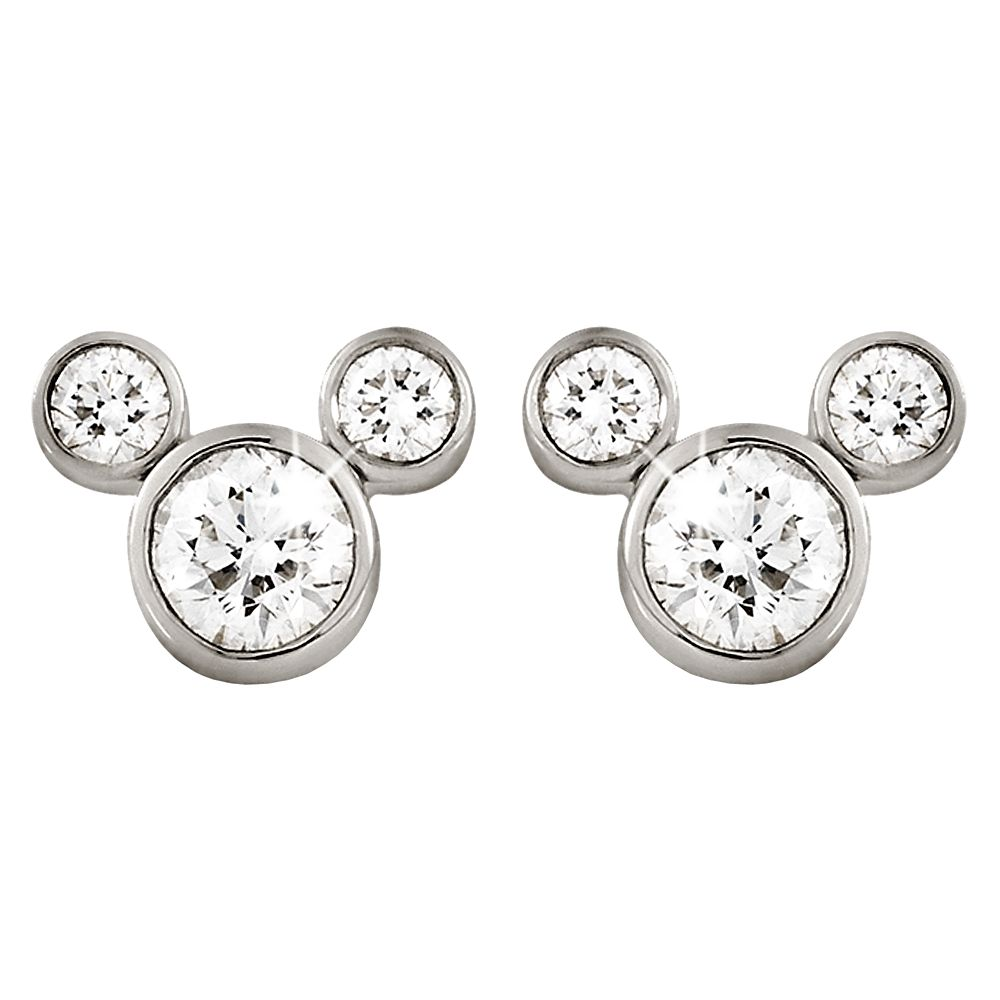 Mickey Mouse Diamond Earrings  Small Official shopDisney
