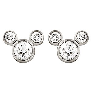 Mickey Mouse Diamond Earrings – Small