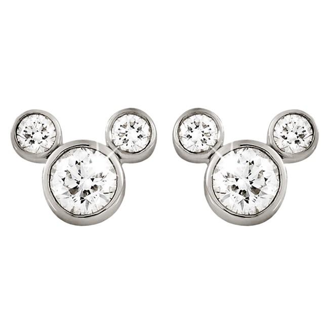 Mickey Mouse Diamond Earrings – Small