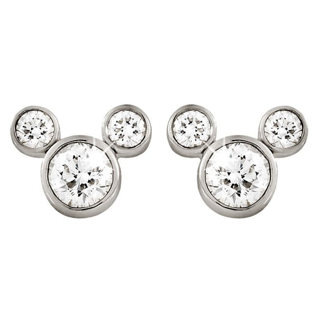 Mickey Mouse Diamond Earrings – Medium