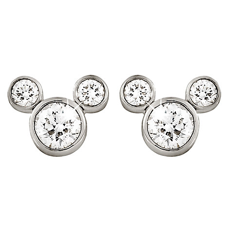 Mickey Mouse Diamond Earrings - Large