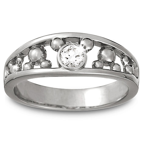 Mickey Mouse Diamond Ring for Men - Platinum