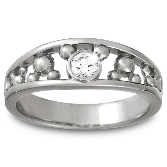 Mickey Mouse Diamond Ring for Men – Platinum