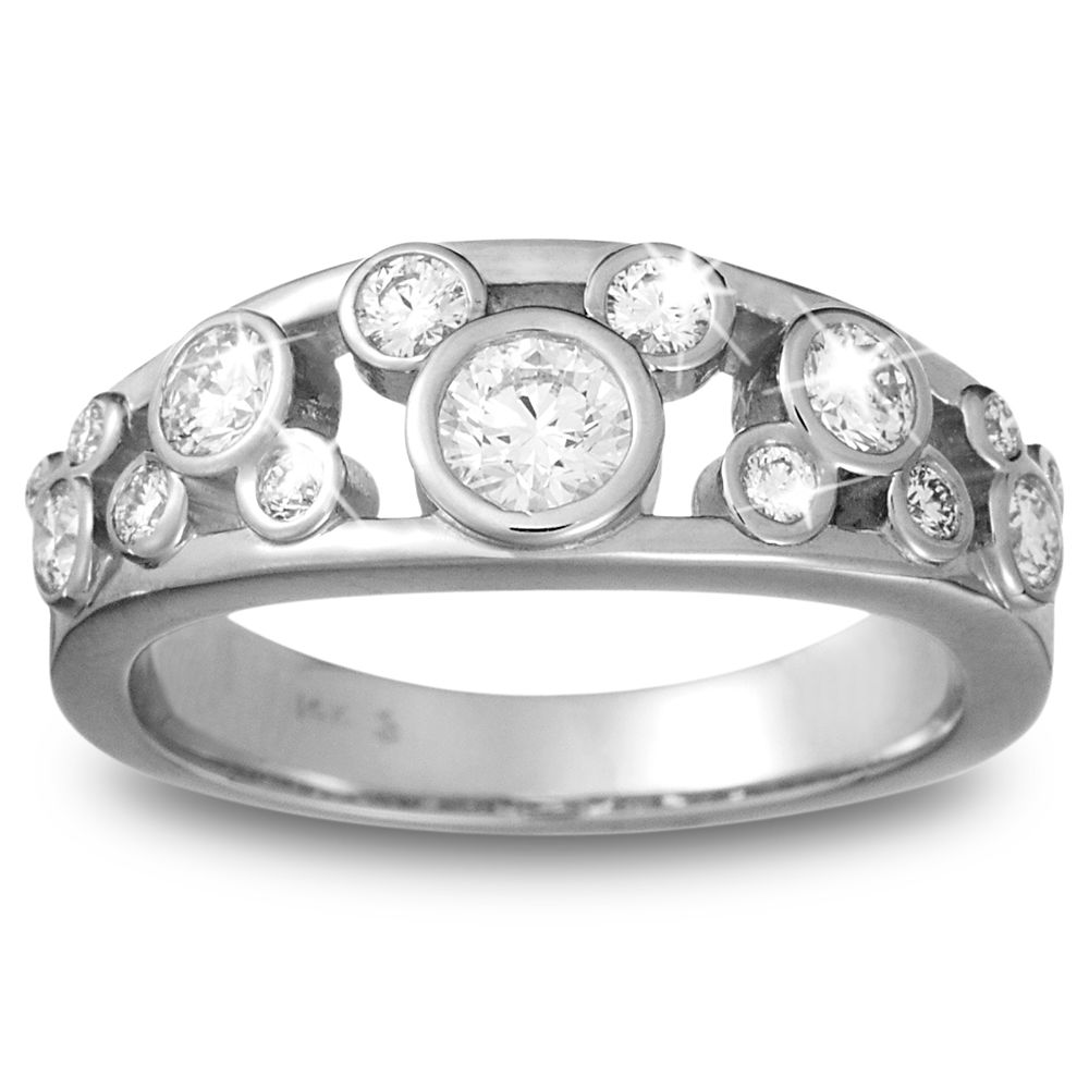 Mickey Mouse Diamond Ring for Women – Platinum