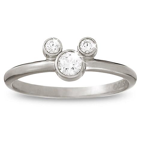 Mickey Mouse Diamond Ring - Platinum