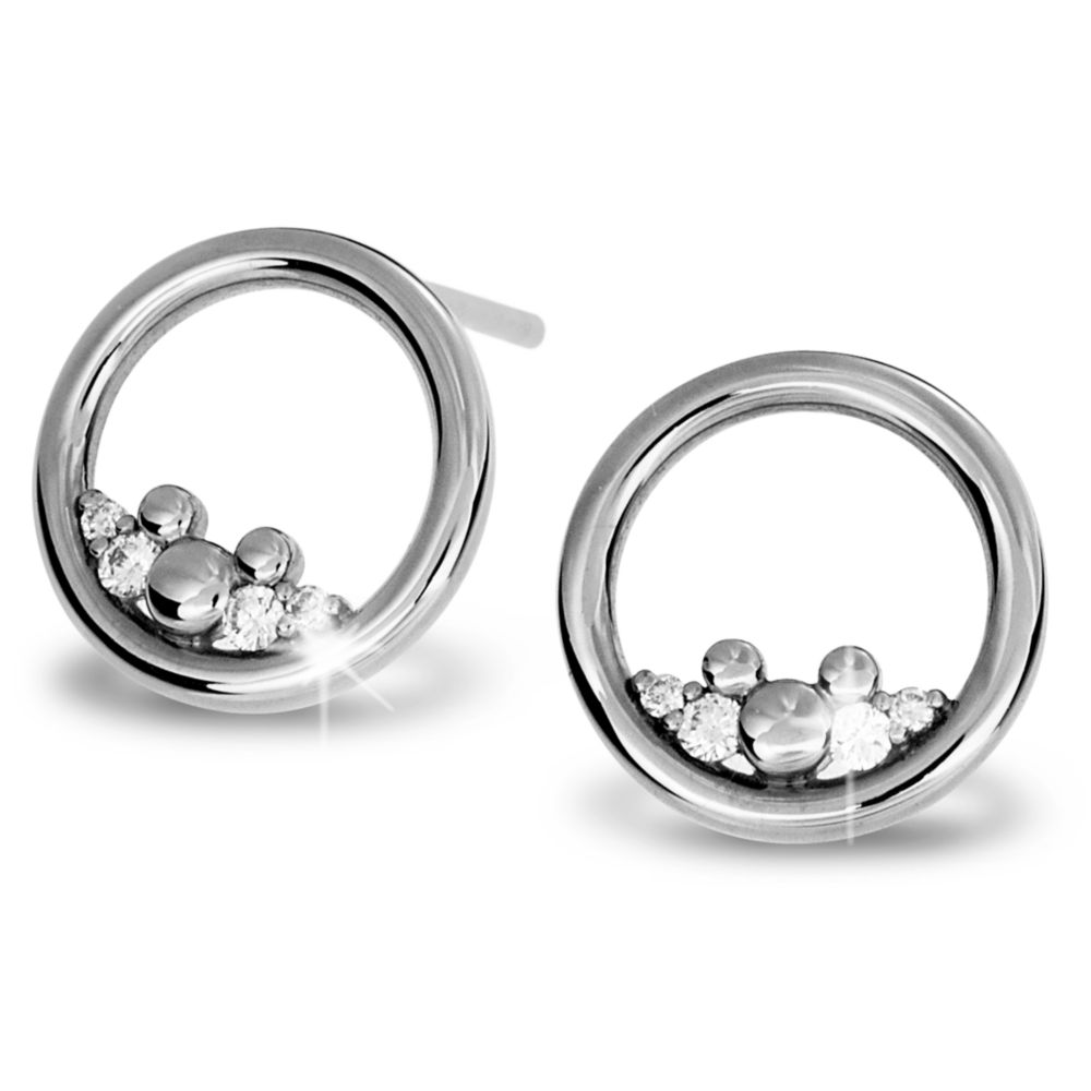 Mickey Mouse Icon Diamond Post Earrings
