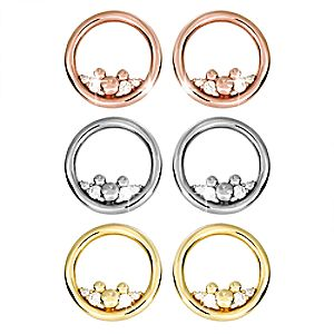 Mickey Mouse Icon Diamond Post Earrings