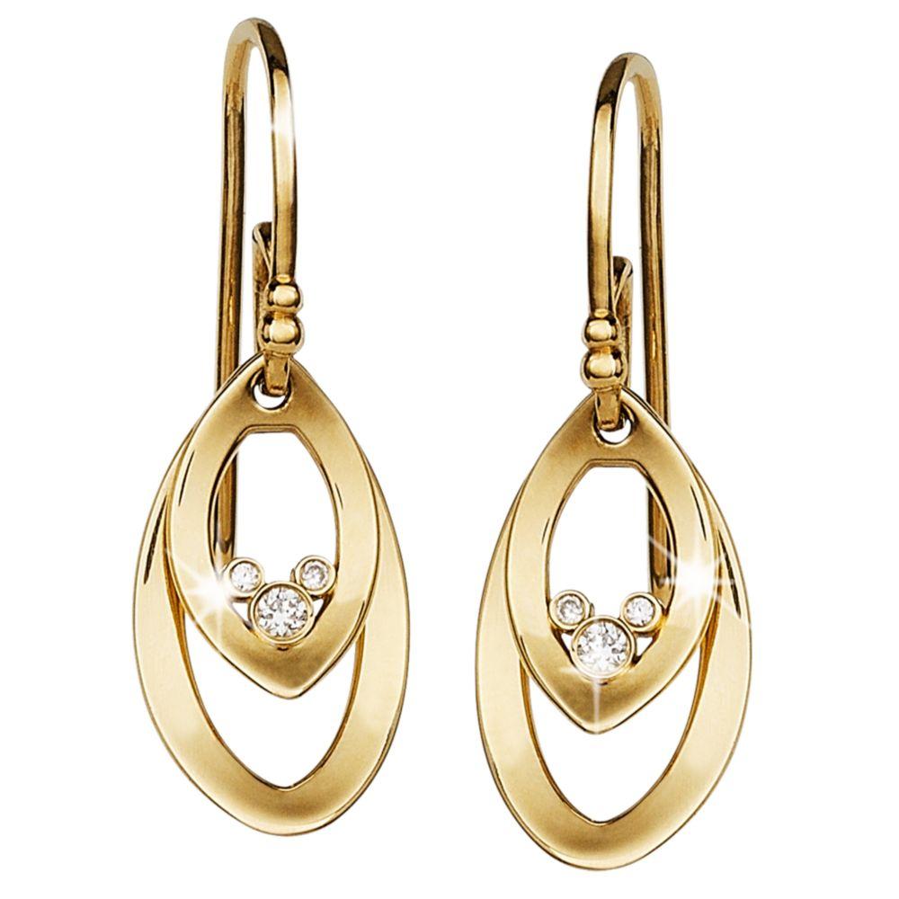 Mickey Mouse Diamond Oval Earrings