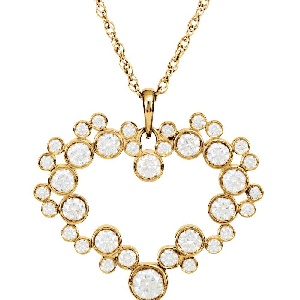Mickey Mouse Icon Diamond Heart Necklace