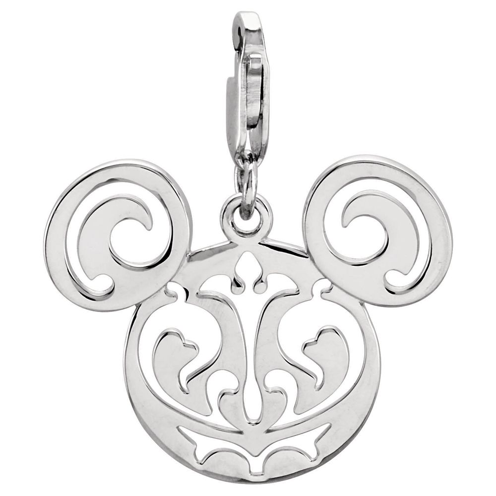 Mickey Mouse Filigree Icon Charm