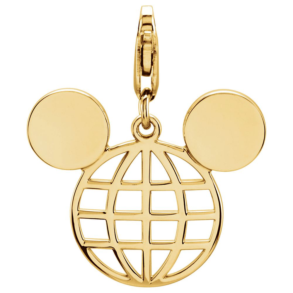 shopdisney.com - Mickey Mouse Globe Icon Charm Official shopDisney 95.00 USD