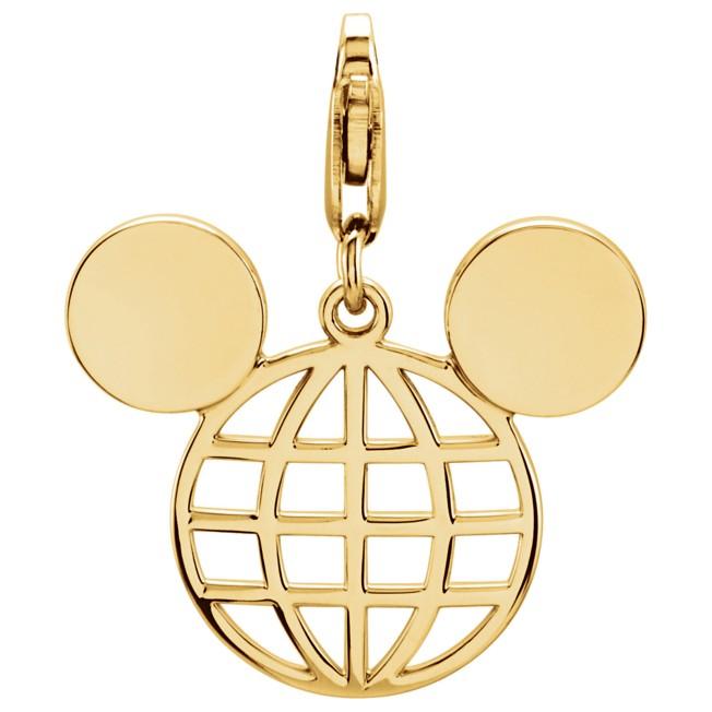 Mickey Mouse Globe Icon Charm
