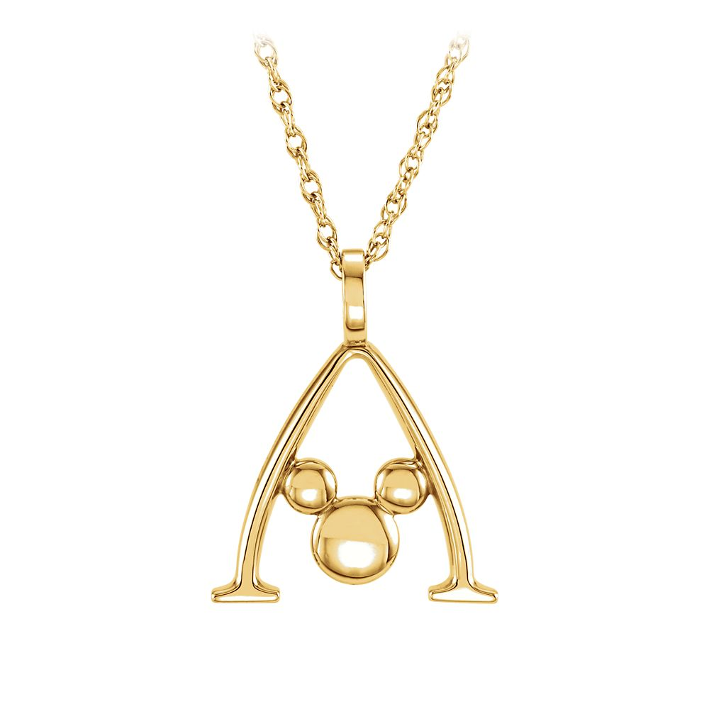 Mickey Mouse Gold Necklace – Aulani, A Disney Resort & Spa