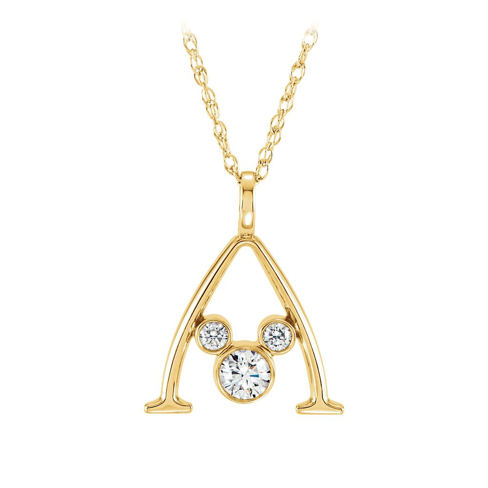 Mickey Mouse Gold and Diamond Necklace – Aulani, A Disney Resort & Spa