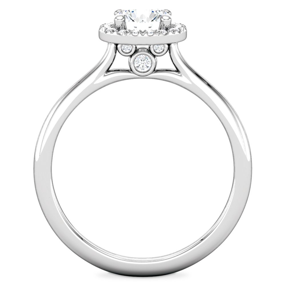 Mickey Mouse Fairy Tale Halo Diamond Engagement Ring