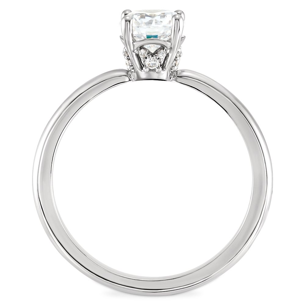 Mickey Mouse Fairy Tale Solitaire Diamond Engagement Ring