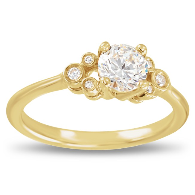 Mickey Mouse Fairy Tale Diamond Engagement Ring