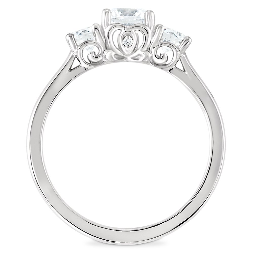 Cinderella Carriage Fairy Tale Diamond Engagement Ring