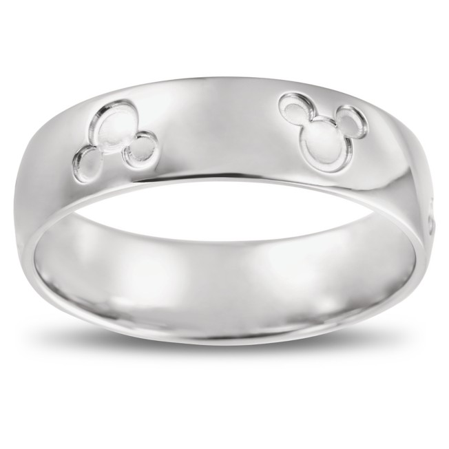 Mickey Mouse Icon Fairy Tale Wedding Band – White Gold