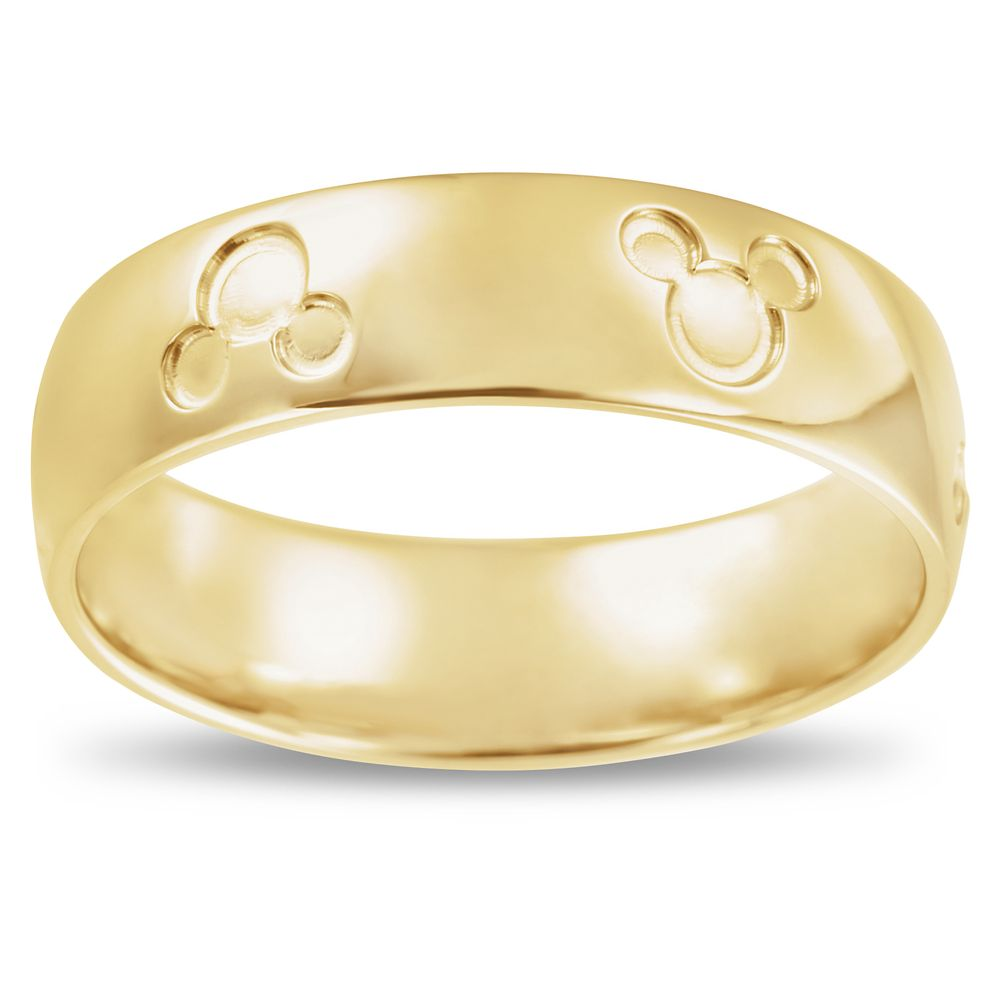 Mickey Mouse Icon Fairy Tale Wedding Band – Yellow Gold