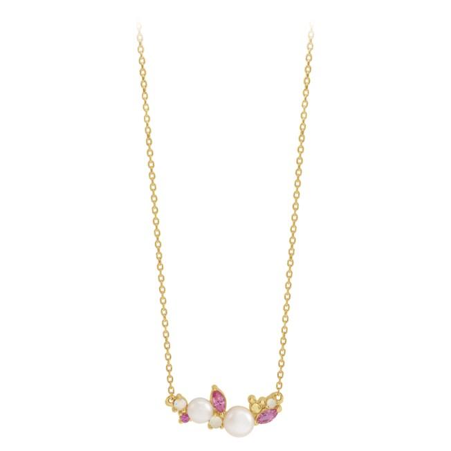 Disney's Fairy Tale Weddings Opal Cluster Necklace