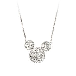 Mickey Mouse Icon Necklace by Arribas – Large Domed